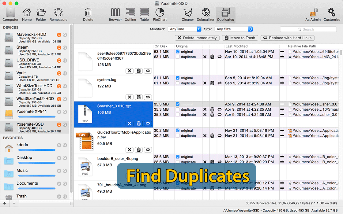 Find Duplicates To Clean and Speed Up A Mac